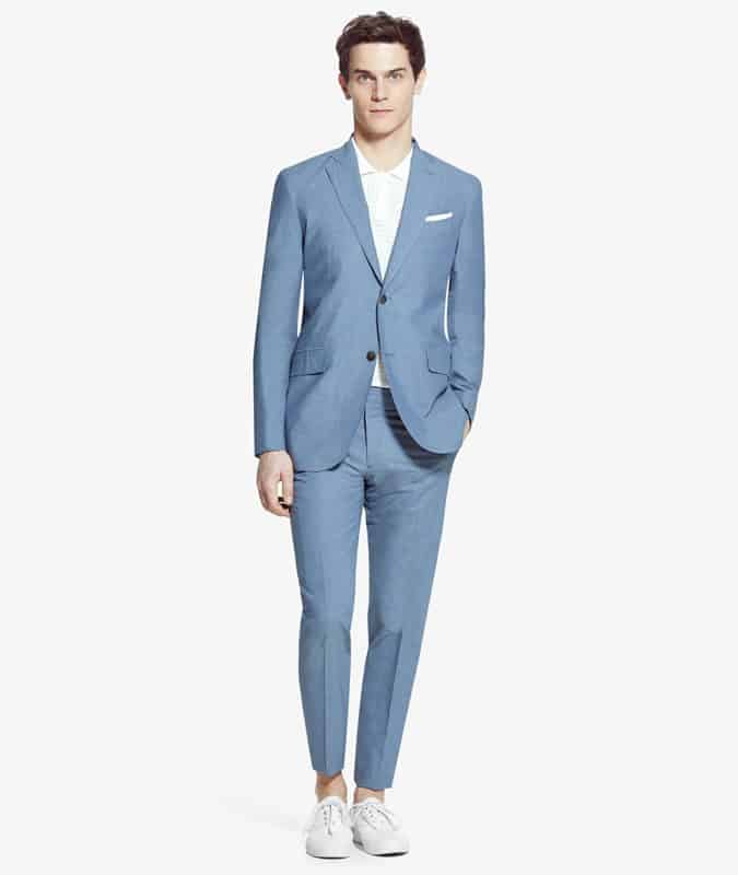 Mango Mid-Blue Summer Suit