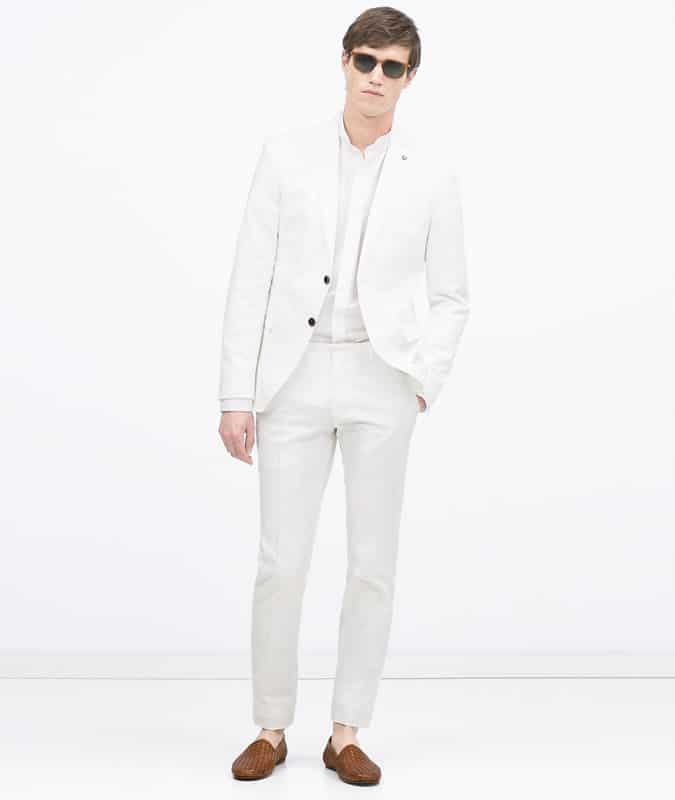 Zara White cotton suit