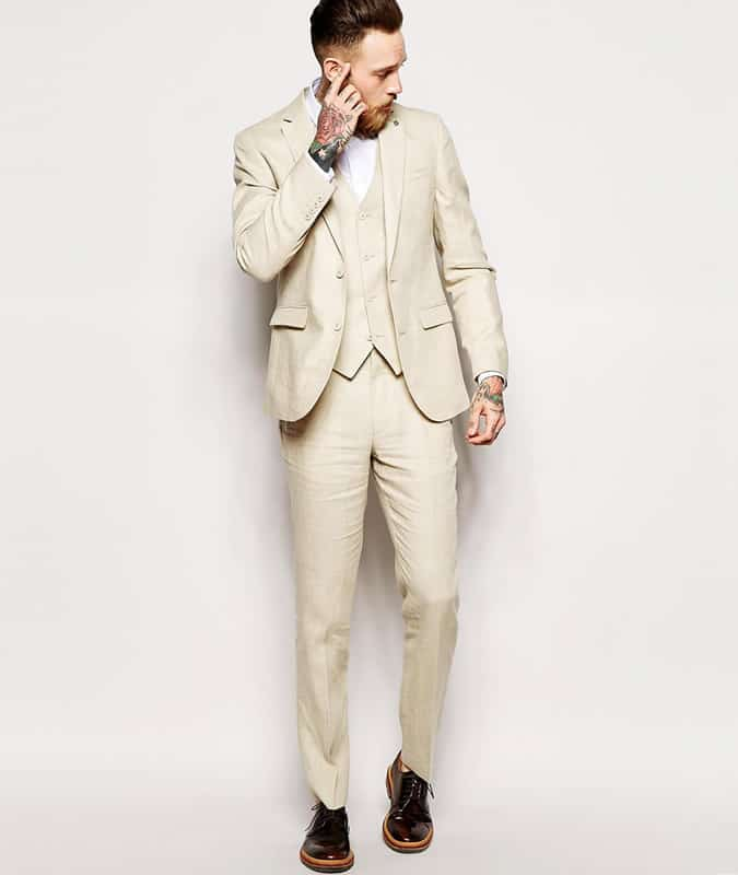 ASOS Slim Fit Suit In 100% Linen
