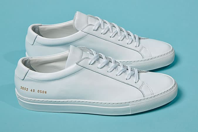 Common Projects Achilles Low White Trainers
