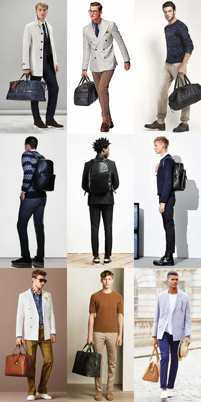 Men's Holdalls and Backpacks Outfit Inspiration Lookbook