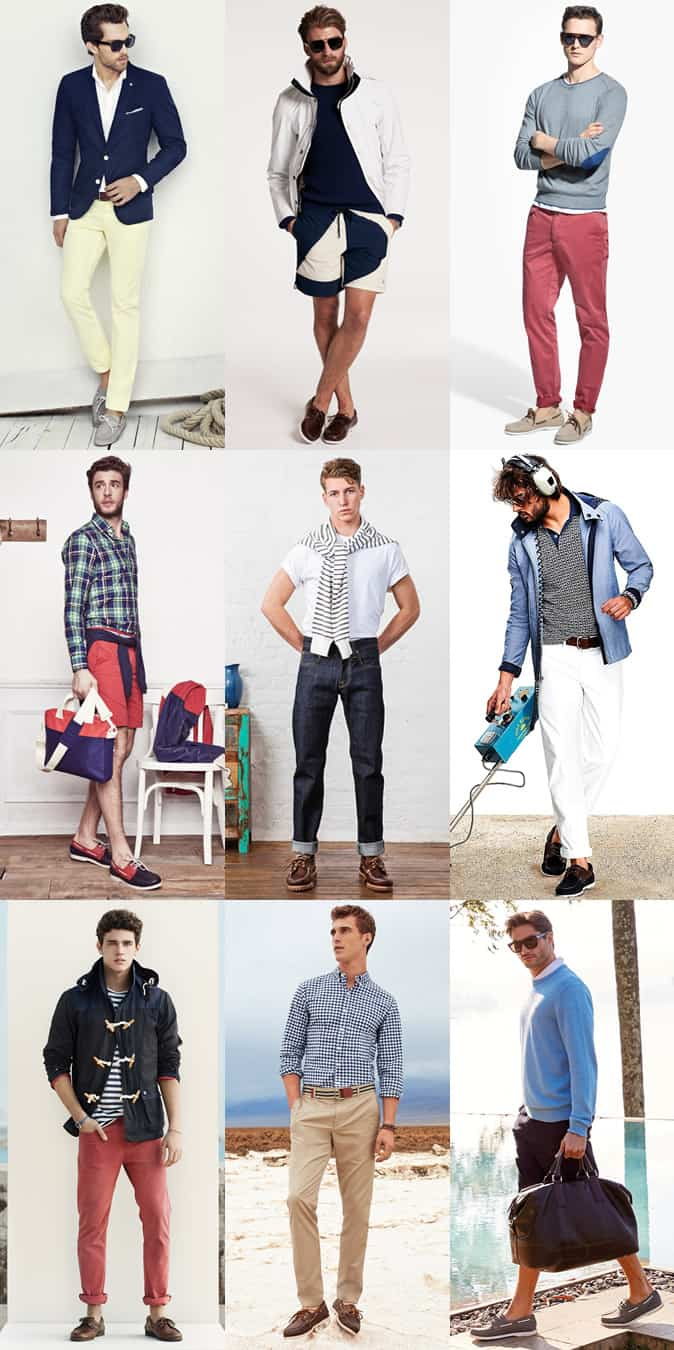 Men's Boat/Deck Shoes Outfit Inspiration Lookbook