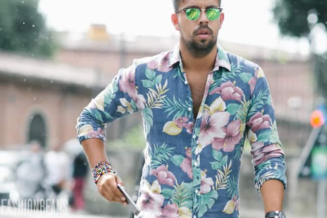 Men's SS16 Street Style Trends - Coloured Lens Sunglasses