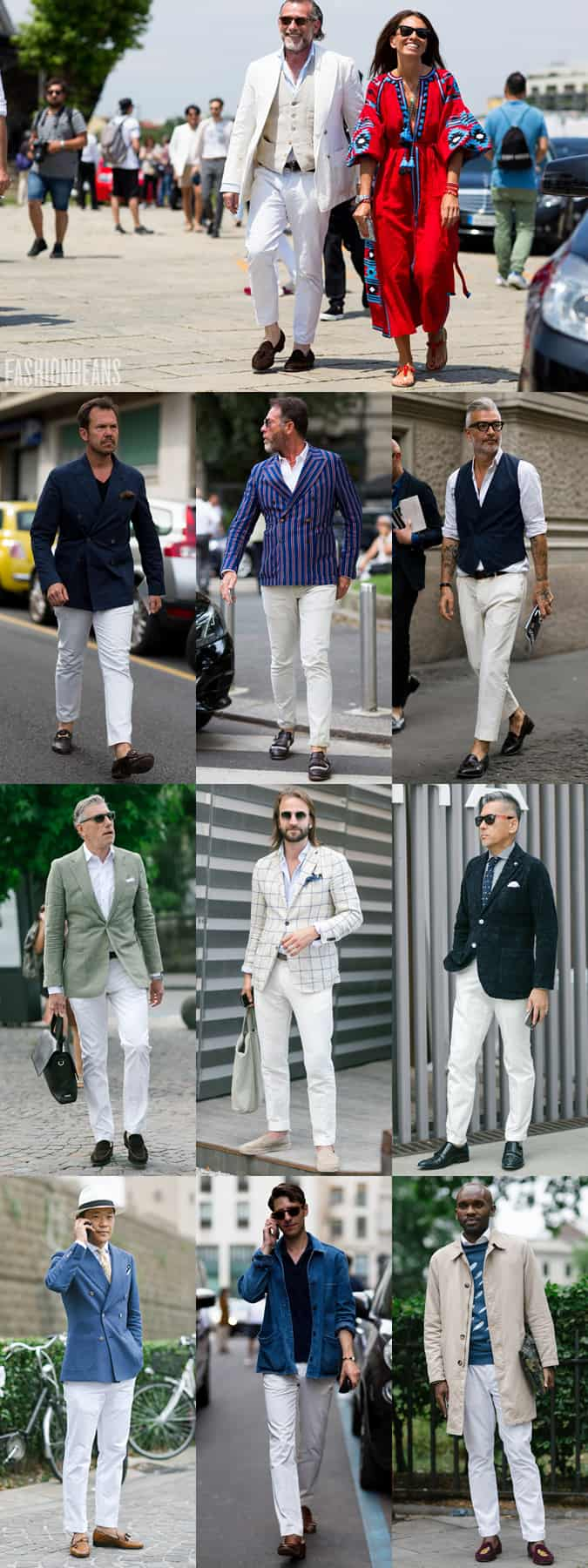 Men's SS16 Street Style Trends - White Trousers