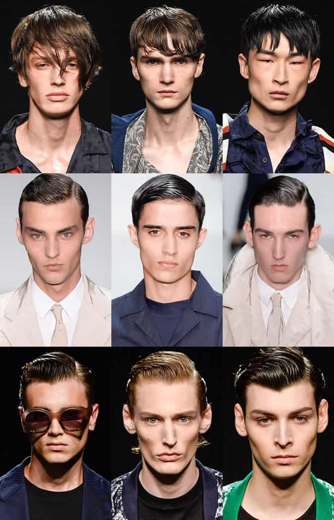 Men's Wet Look Hair - James Long, Matthew Miller and Casely-Hayford Spring/Summer 2016 Runways