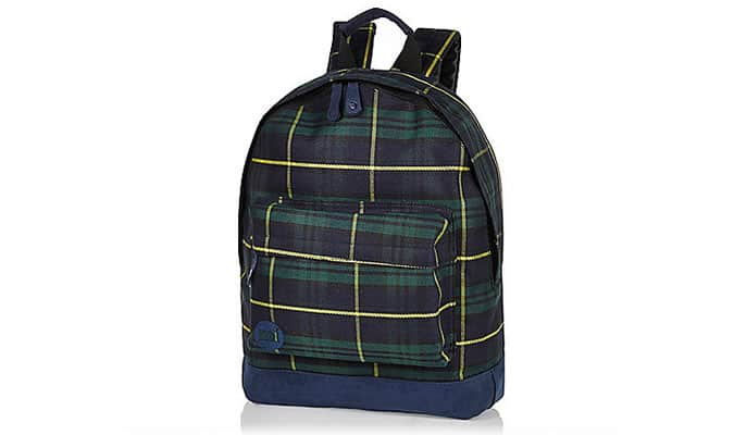 Black MiPac Tartan Backpack