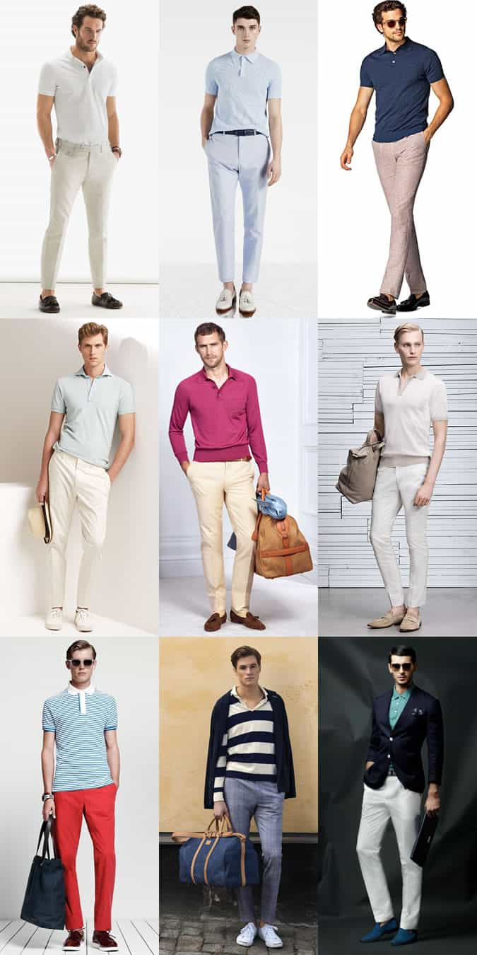 Men's Riviera Style Outfit Inspiration Lookbook - The Polo Shirt