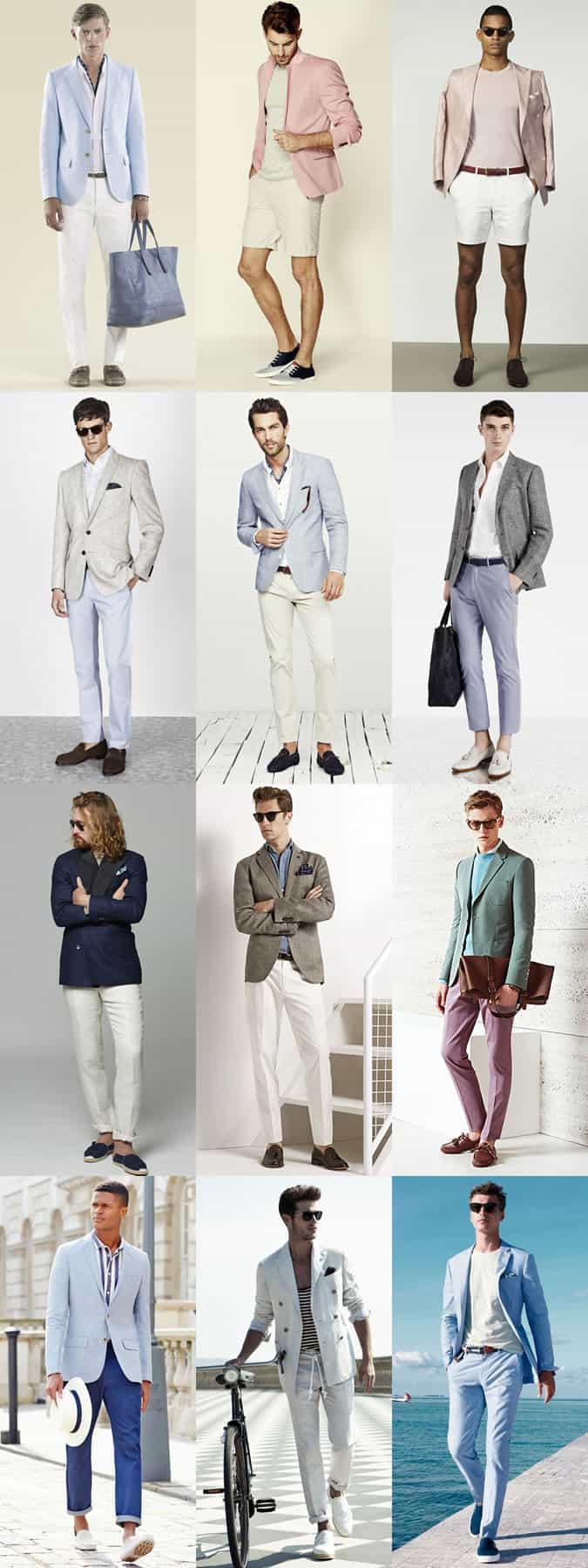 Men's Riviera Style Outfit Inspiration Lookbook - Lightweight, Unlined Tailoring
