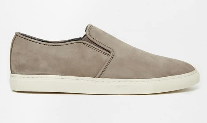 River Island Leather Slip On Plimsolls