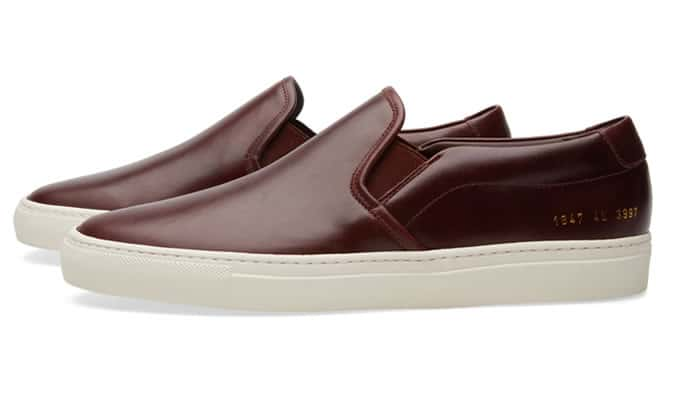 COMMON PROJECTS SLIP ON LEATHER Bordeaux