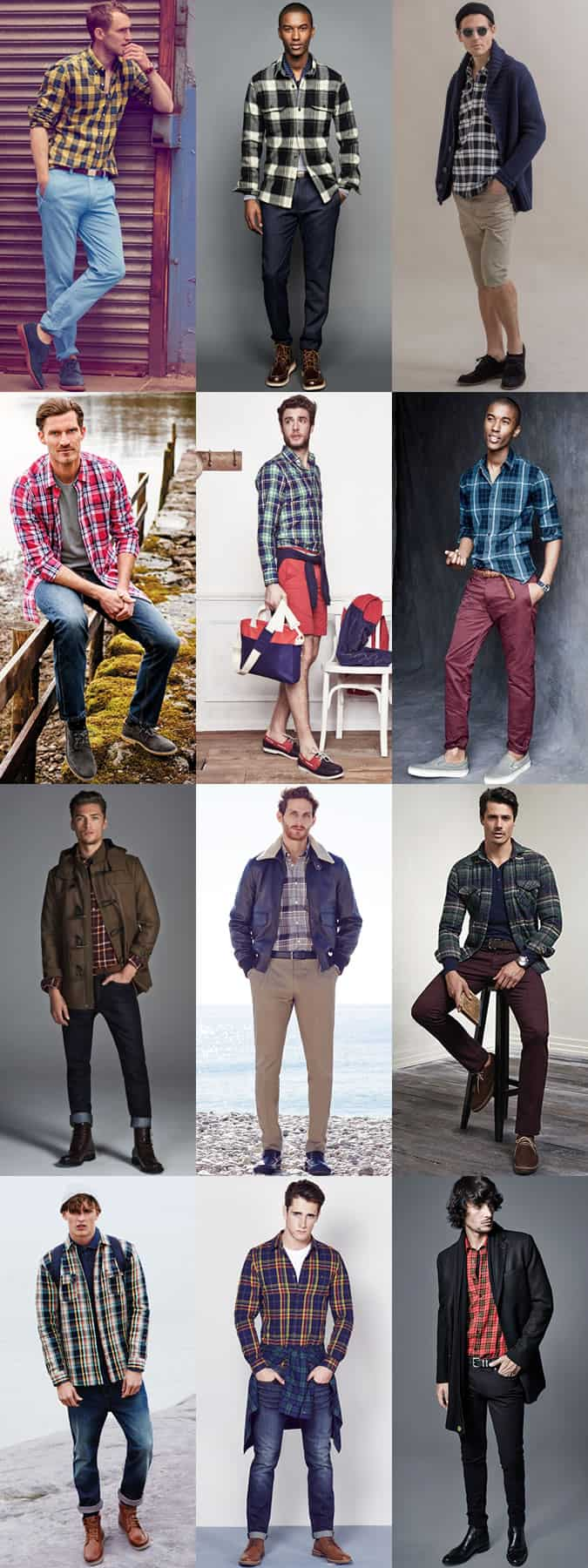 Men's Plaid Shirts - Casual and Smart-Casual Outfit Inspiration Lookbook
