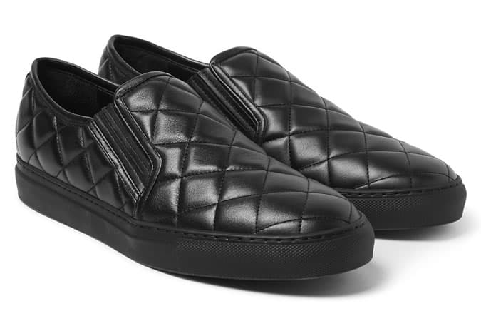 Balmain Quilted Slip-On Sneakers