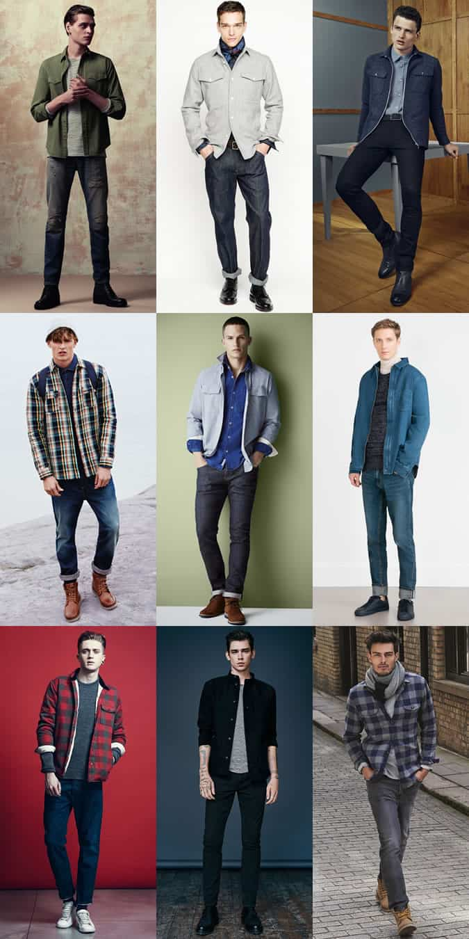Men's Overshirts - Transitional Season Outfit Inspiration Lookbook