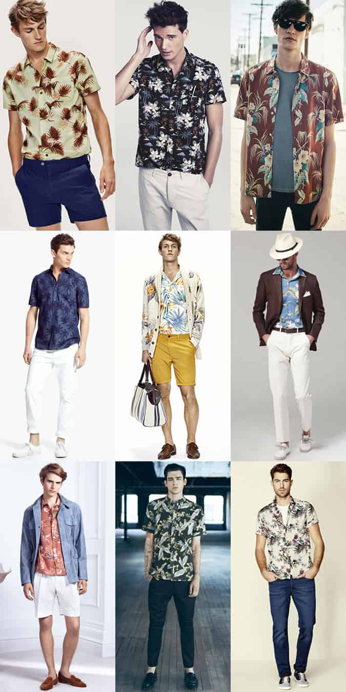 Men's Hawaiian Shirts Outfit Inspiration Lookbook