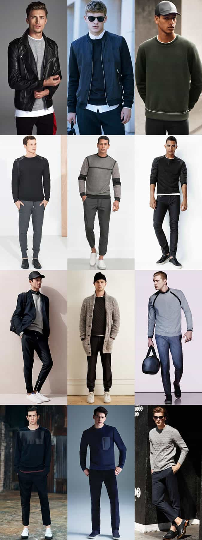 Men's Sweatshirts Outfit Inspiration Lookbook