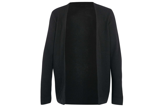 Topman Black Open Cardigan