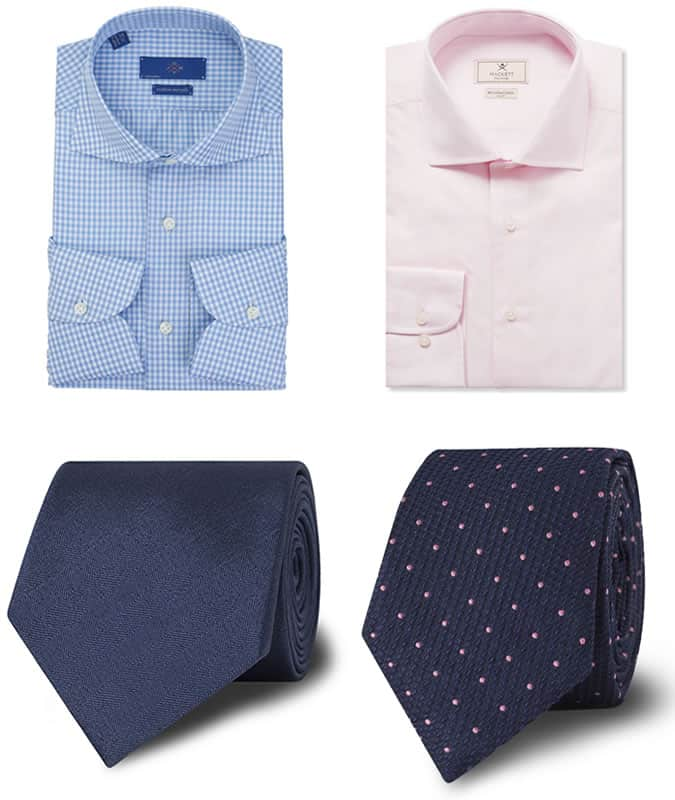 Men's Block Colours and Patterns - Shirt and Tie Combinations
