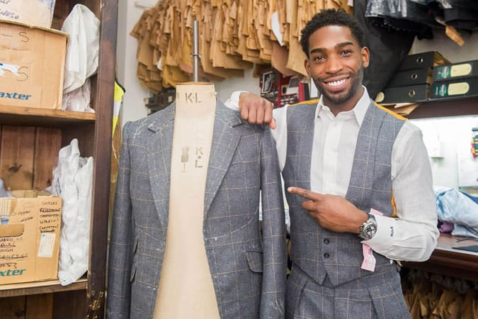 Tinie Tempah Tweed Three-Piece For London Collections: Men