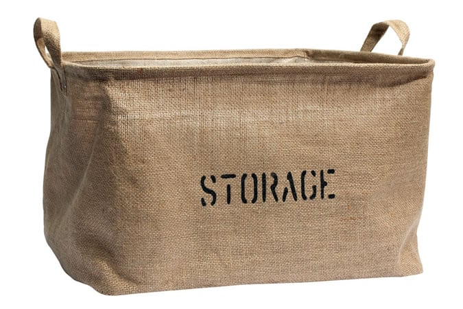 H&M Jute Storage Basket