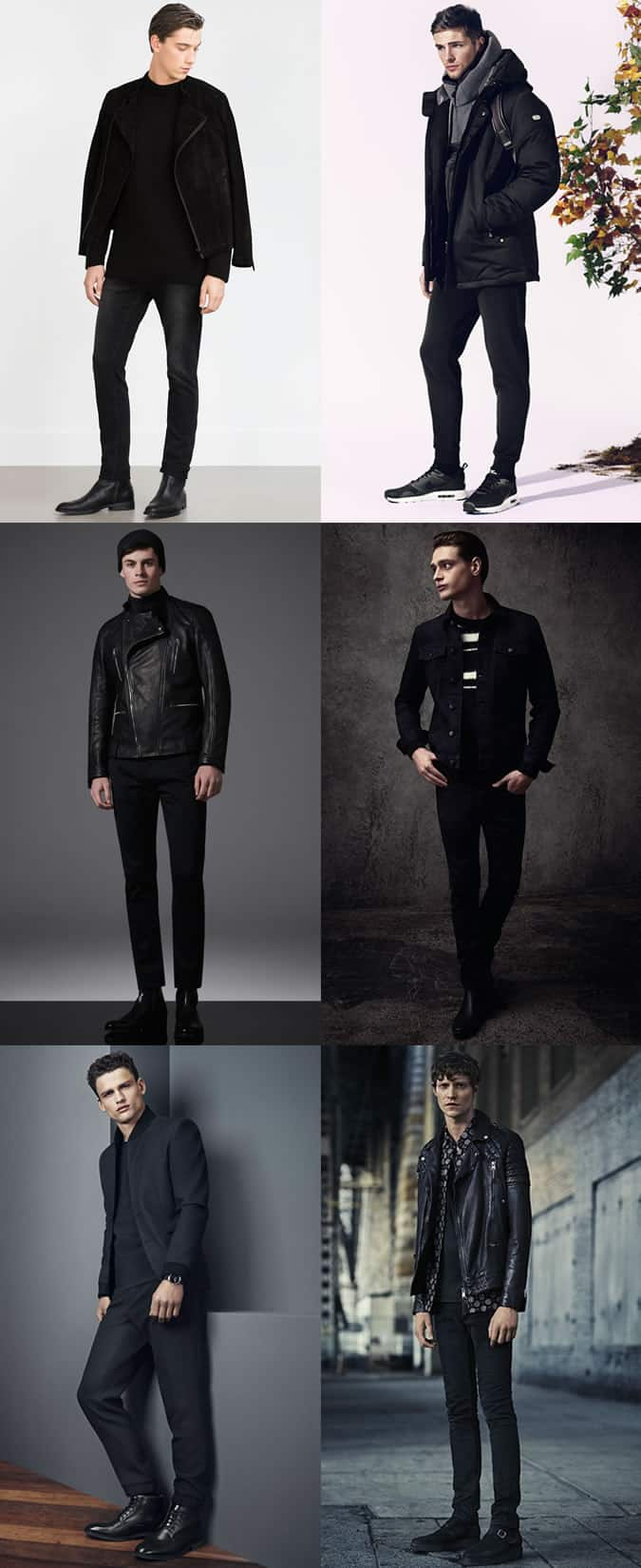 Men's All-Black Outfit Inspiration Lookbook