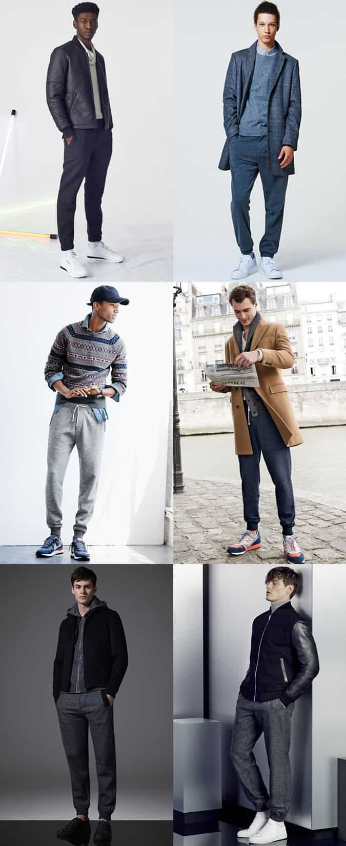 Men's Slimline/Smart Joggers Outfit Inspiration Lookbook