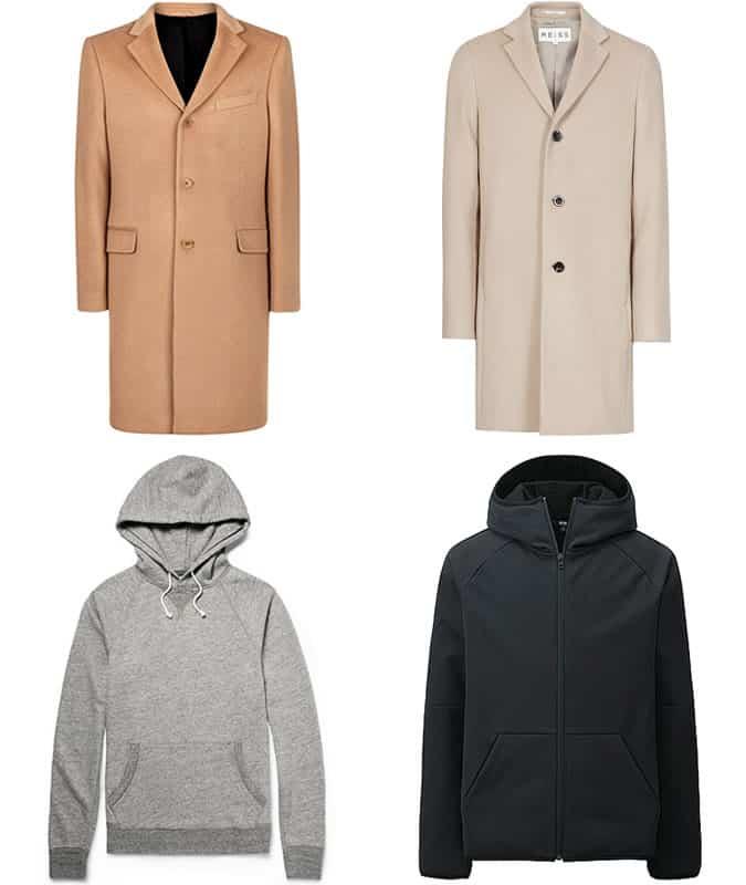 Men's Camel Coats and Hoodies