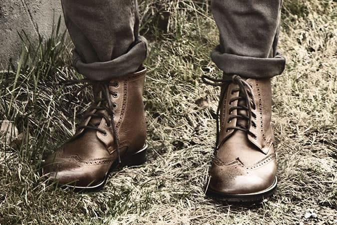 The innocent: brogue boots