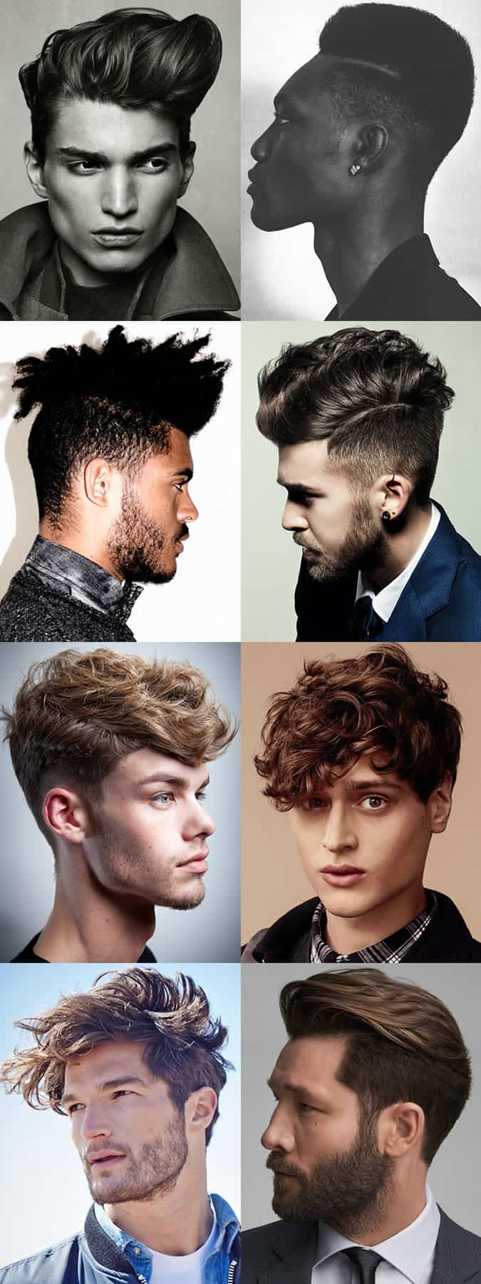 Men S Hairstyle Trends 2017 Dramatic Contrasts And Big Shapes
