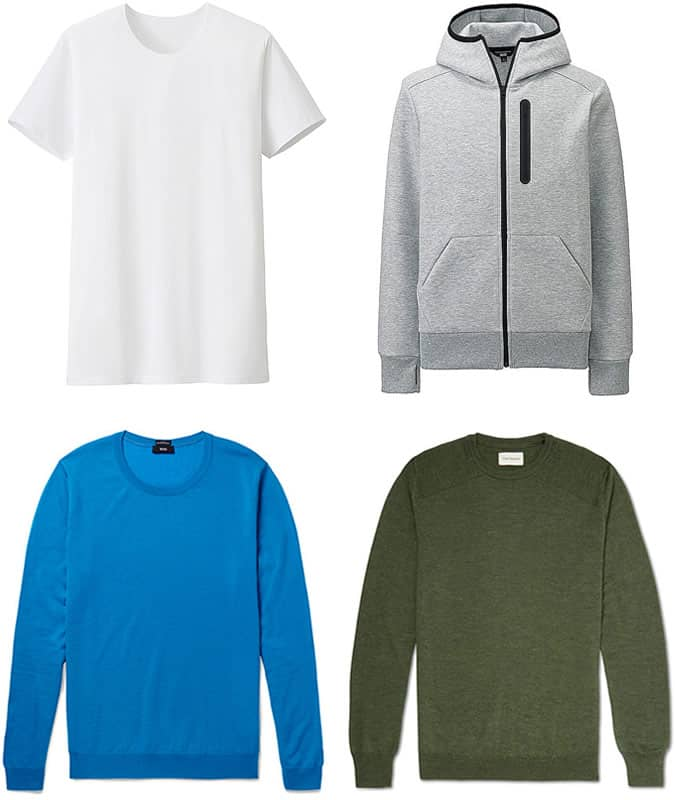 Men's Polyester Gymwear and Virgin Wool Knits