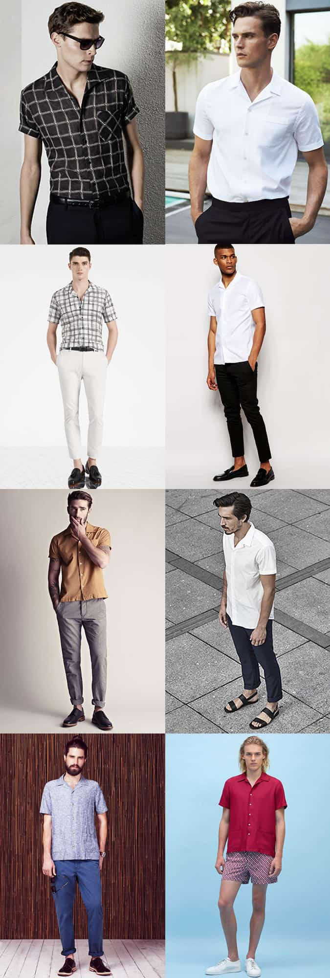 Men's Cuban Collar Shirt Outfit Inspiration Lookbook