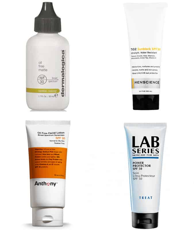 Men's Moisturisers with SPF Protection