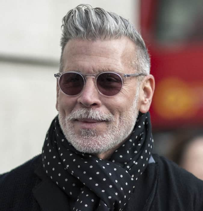 Nick Wooster Has Great Grey Hair
