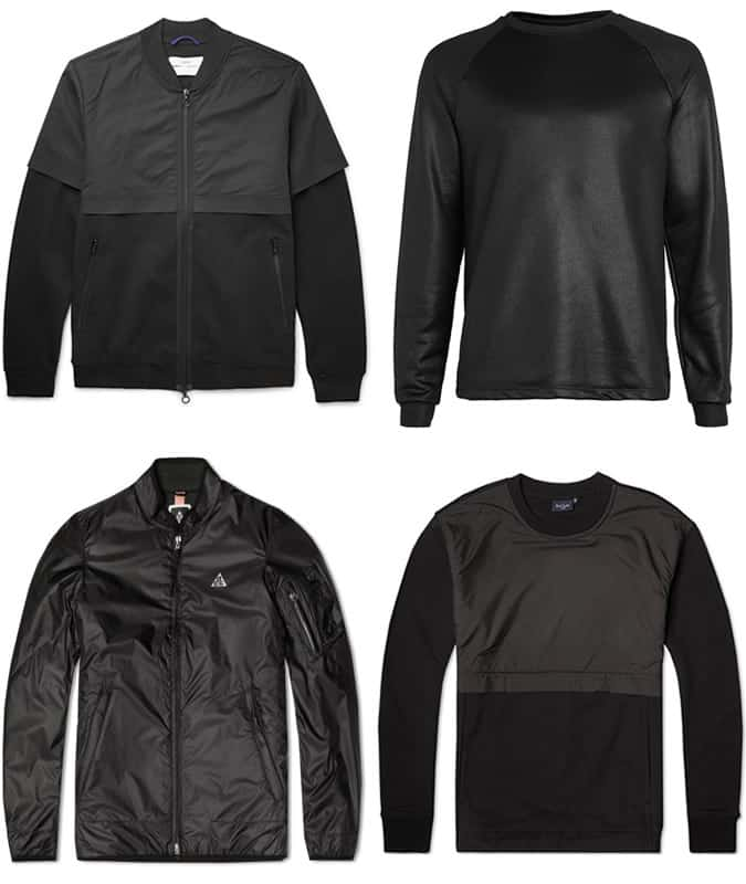 Men's Space-Age Black Clothing
