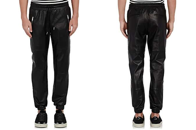 The World's Most Stylish Stuff - This Week - Ovadia & Sons Leather Jogger Pants