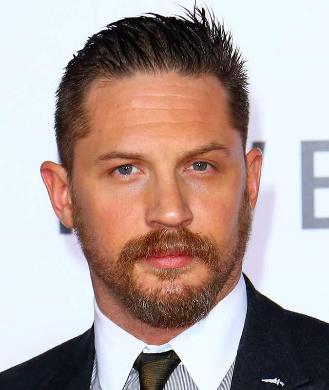 Tom Hardy Slick Back Hairstyle