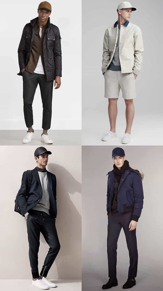 Men's Baseball Caps/Snapbacks Hats Outfit Inspiration Lookbook