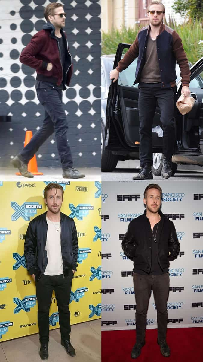 Ryan Gosling Bomber Jacket Outfits