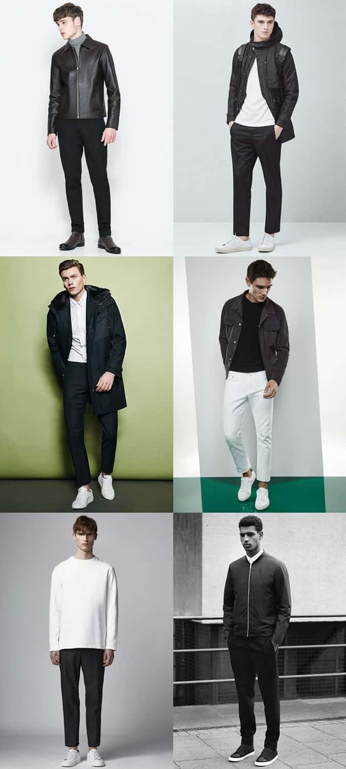 Men's Scandinavian Minimal and Monochrome Outfit Inspiration Lookbook