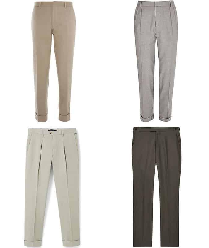 Men's Lightweight Cotton Slim-Fit Trousers