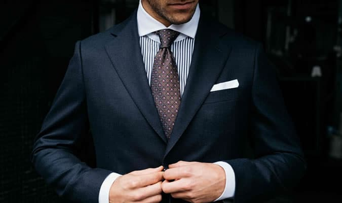 Always place a handkerchief in your breast pocket