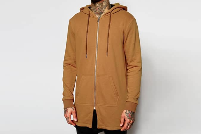 Sixth June Longline Zip Up Hoodie