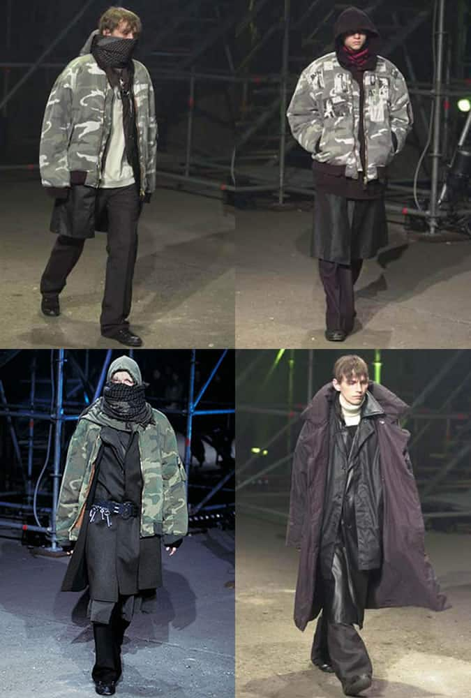 Raf Simons AW 01/02 - The Best & Most Influential Menswear Shows Of All Time