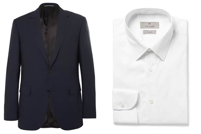 Canali Men's Travel Blazer and White Shirt