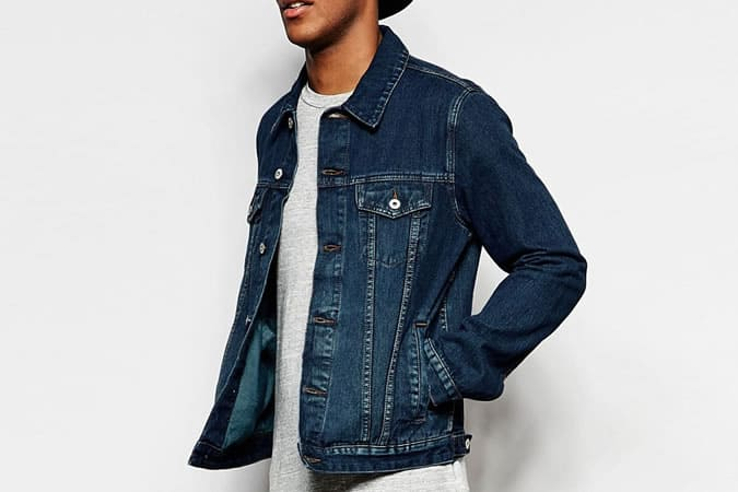 ASOS Slim Fit Dark Wash Denim Jacket