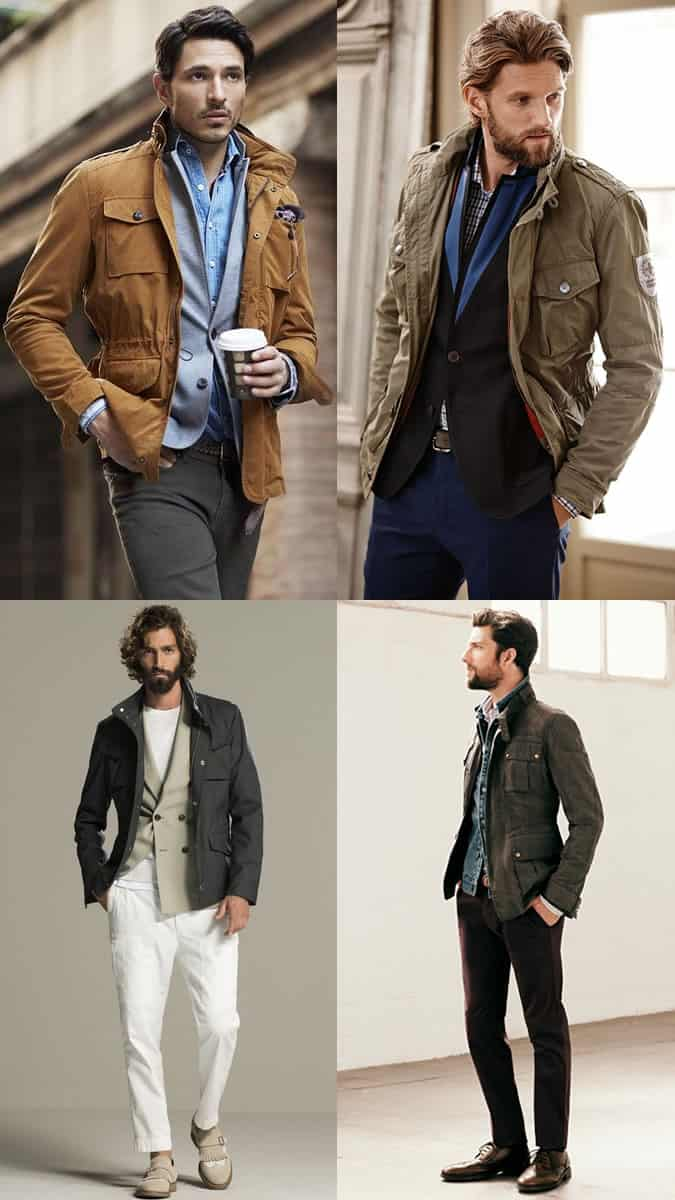 Field Coat Men Fashion