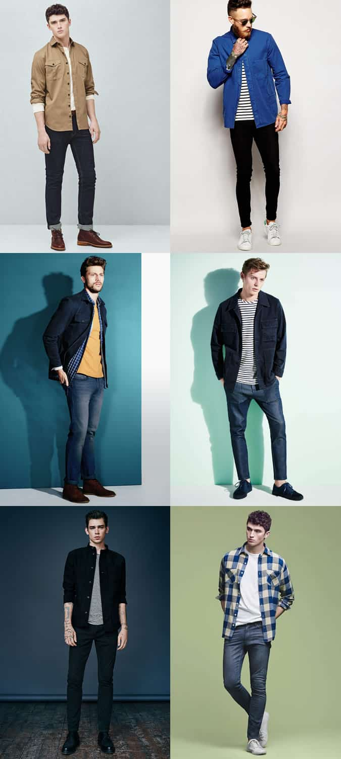 Men's Overshirts With Jeans - Spring/Summer Outfit Inspiration Lookbook