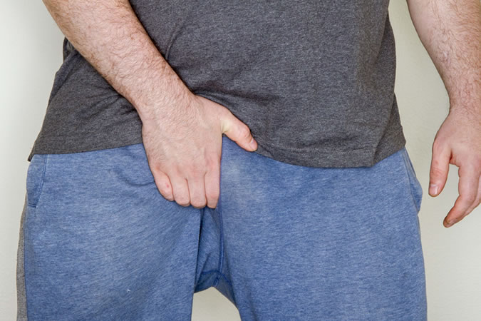 Man Suffering With Jock Itch