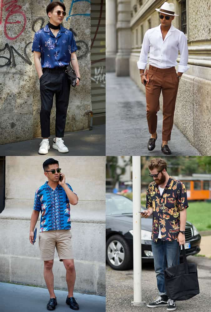 Men's Fashion Week Street Trends - Cuban Collar Shirts