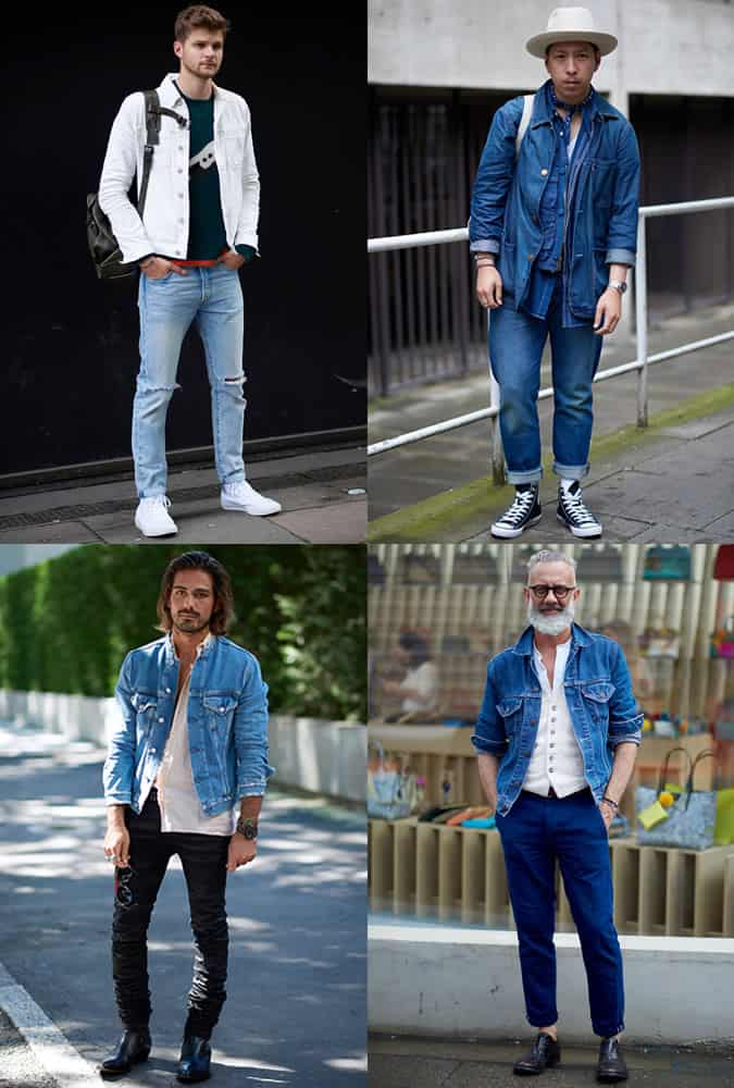 Men's Fashion Week Street Trends - Double Denim