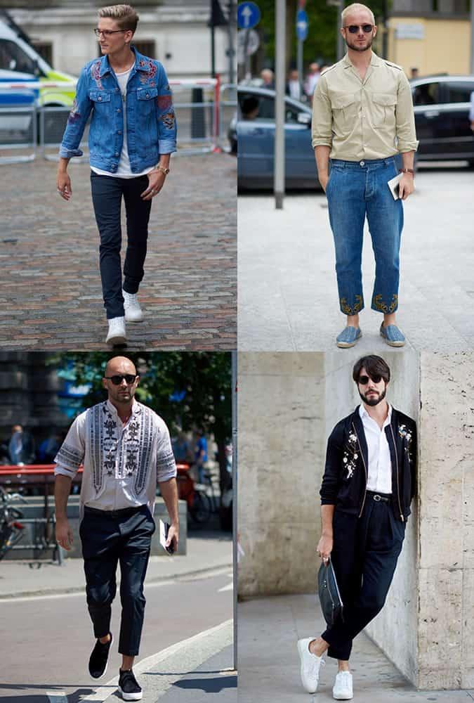 Men's Fashion Week Street Trends - Embroidery